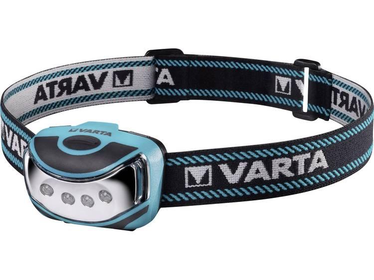 Varta LED Hoofdlamp Blauw, Zwart Werkt op batterijen