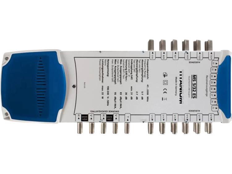 Smart MS 5/32 ES Satelliet multiswitch Ingangen (satelliet): 5 (4 satelliet / 1 terrestrisch) Aantal gebruikers: 32 geschikt voor Quad LNB