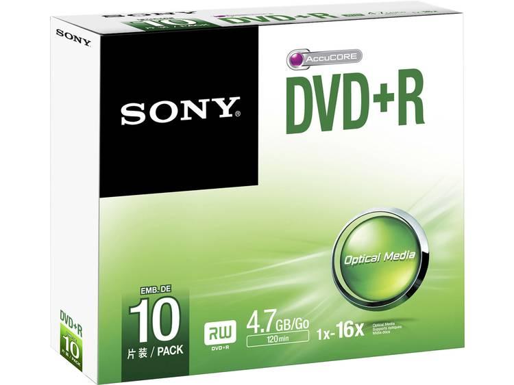 DVD+R disc 4.7 Sony DPR47SS 10 stuks Slimcase