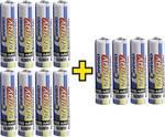 Oplaadbare AAA-batterijen (potlood) 1100 mAh, 4 gratis