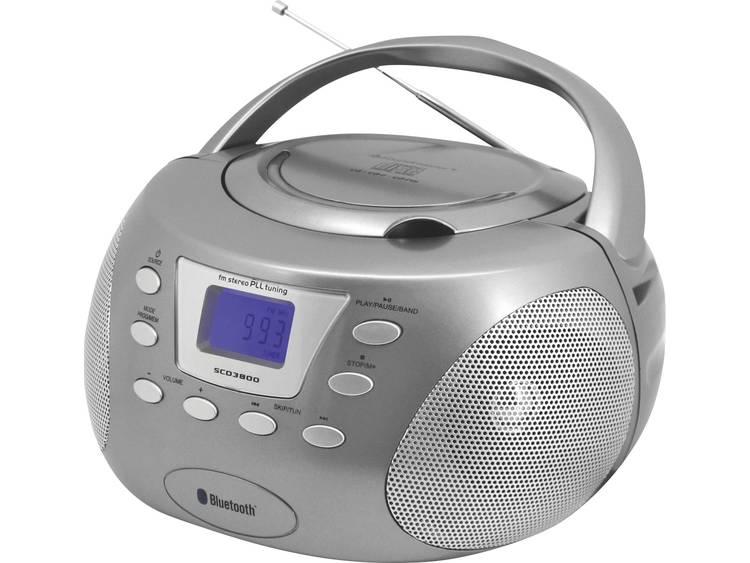Soundmaster SCD3800TI Bluetooth Boombox Titaan