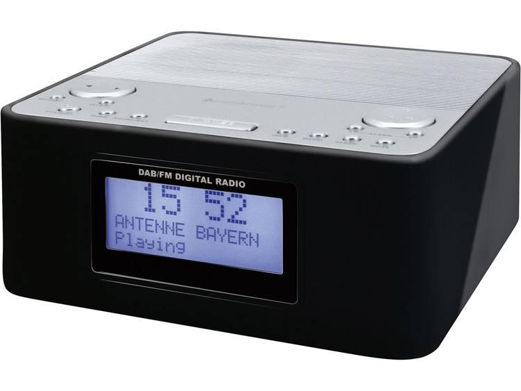 SoundMaster UR170SW DAB+ Wekkerradio DAB+, FM Zwart, Zilver