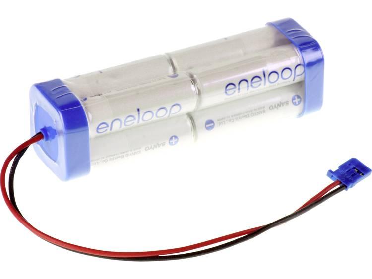 Panasonic eneloop Doppelwürfel F2x2x2 Futaba Accupack NiMH 9.6 V 1900 mAh AA (penlite) Kabel, Stekker