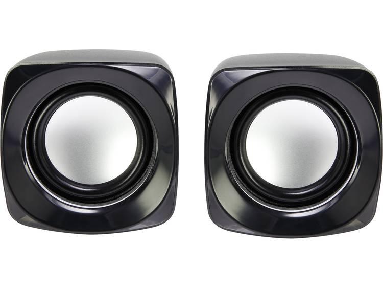 Basetech S181 2.0 PC-luidsprekers Kabelgebonden 6 W Zwart