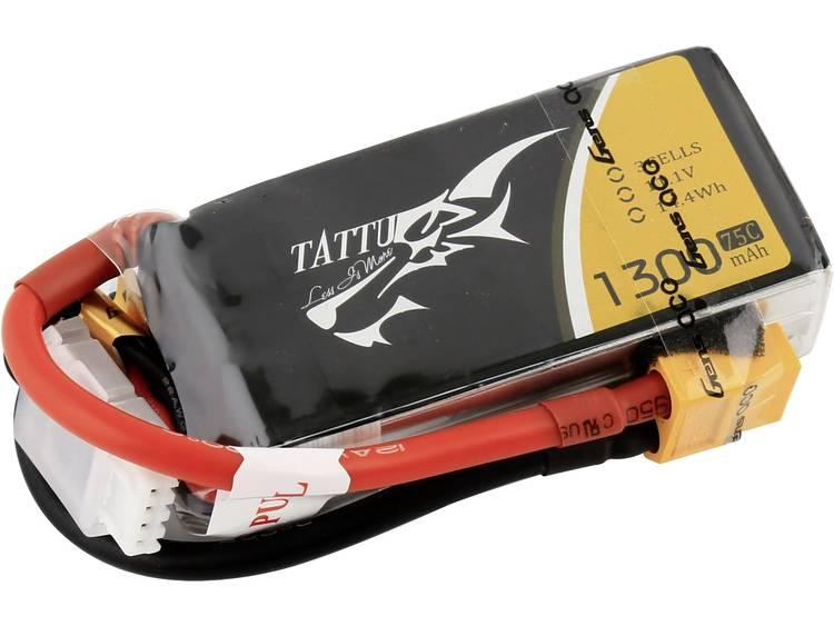 LiPo accupack 14.8 V 1300 75 C Tattu XT60