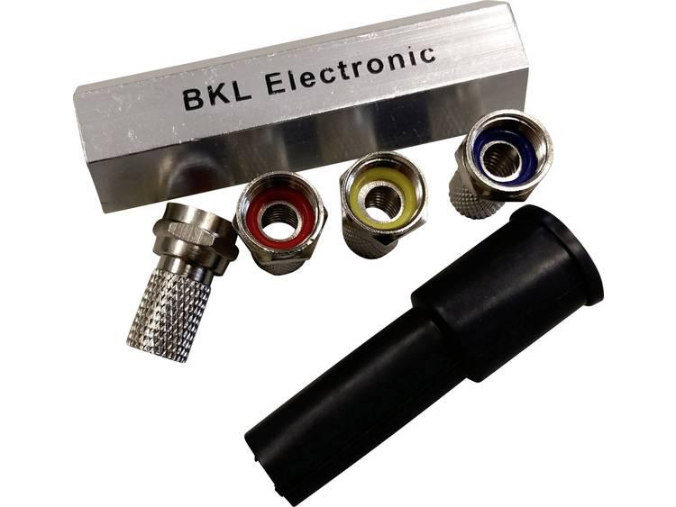 F-connector set met rubberen grommets Kabeldiameter: 6.80 mm