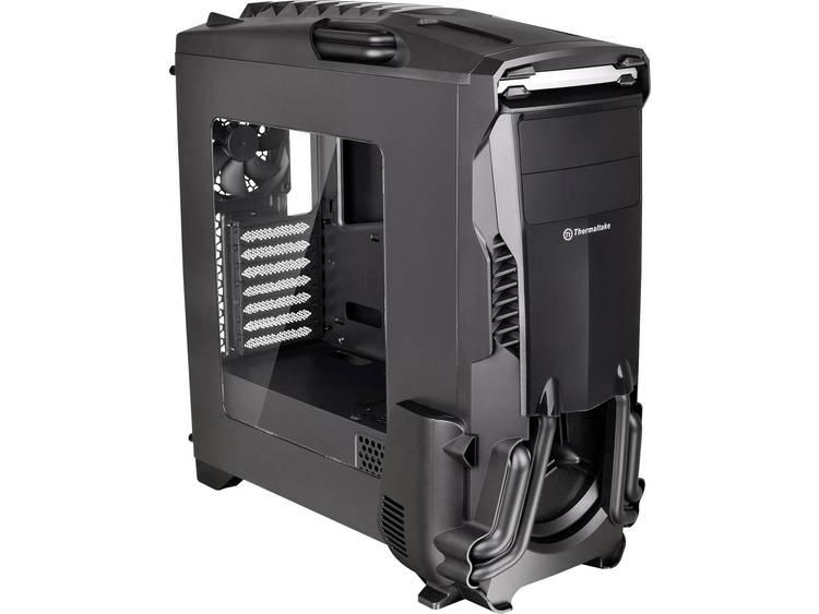 Midi-tower PC-behuizing Thermaltake Versa N24 Zwart (glanzend) Zijvenster, 2 voorgeïnstalleerde ventilators, Stoffilter