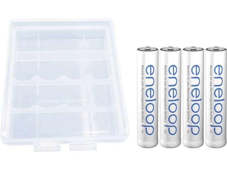 Oplaadbare AAA batterij (potlood) Panasonic eneloop HR03 + Box NiMH 750 mAh 1.2 V 4 stuk(s)