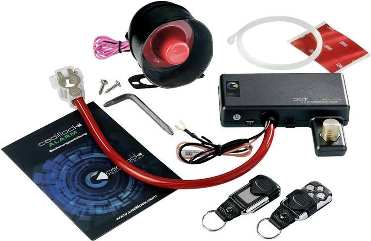 Image of Cadillock Alarm Auto-alarmsysteem Incl. afstandsbediening, Schoksensor 12 V