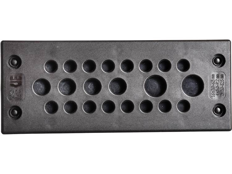 Jacob F305-9240-01 Kabeldoorvoeringsplaat Klem-Ã (max.) 12 mm Polyamide Zwart 1 stuks