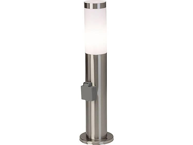 Staande buitenlamp Spaarlamp E27 20 W Brilliant koor 43693-82 RVS