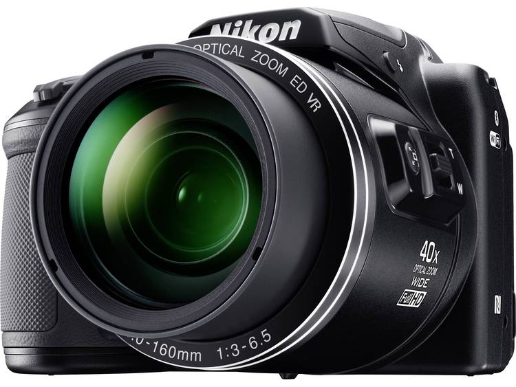 Nikon Coolpix B-500 Digitale camera 16 Mpix Zoom optisch: 40 x Zwart Full-HD video-opname, Klapbaar display, Bluetooth
