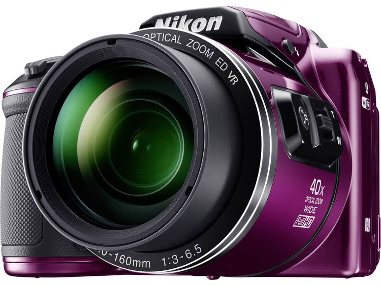 Nikon Coolpix B-500 Digitale camera 16 Mpix Zoom optisch: 40 x Lila Full-HD video-opname, Klapbaar display, Bluetooth kopen