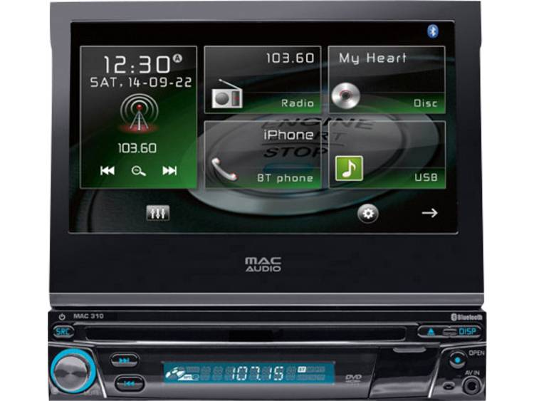 Mac Audio Enkel Din autoradio 4 x 40 W USB, Jackplug, Subwoofer