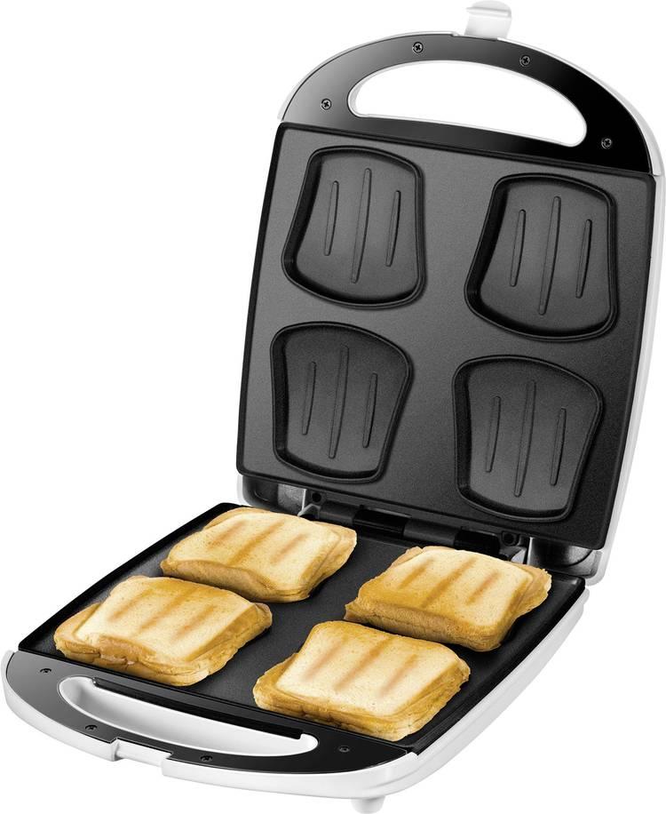Image of Unold Quadro Sandwich toaster Inklapbaar Wit/zwart