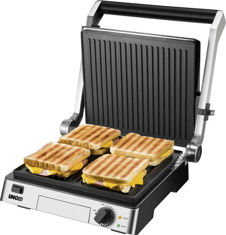 Image of Contactgrill Unold Contact-Grill Steak Tafel Zwart, RVS