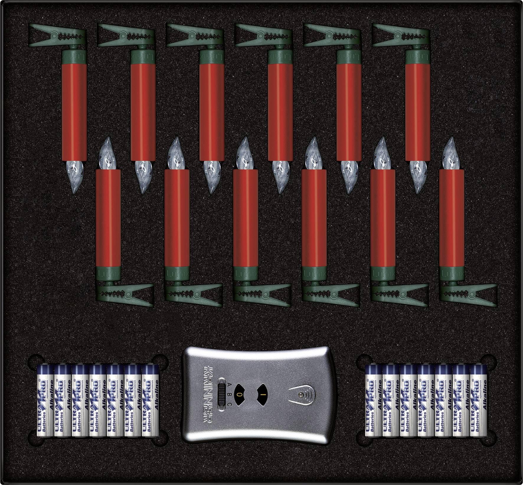 kerstboomverlichting binnen werkt op batterijen 12 led warm wit rood krinner premium mini