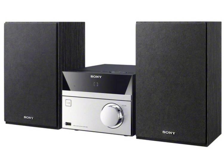 Stereoset Sony CMT-SBT20 AUX, Bluetooth, CD, NFC, FM, USB Zwart, Zilver