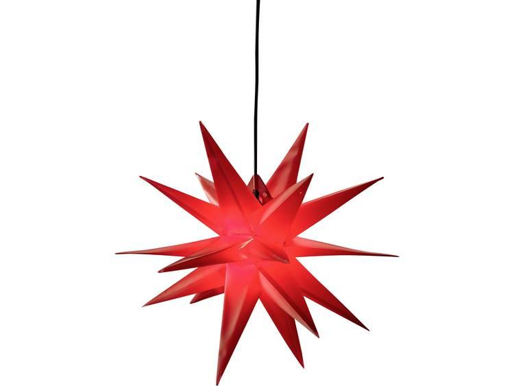18-puntige XL-kunststof ster voor buiten, rood