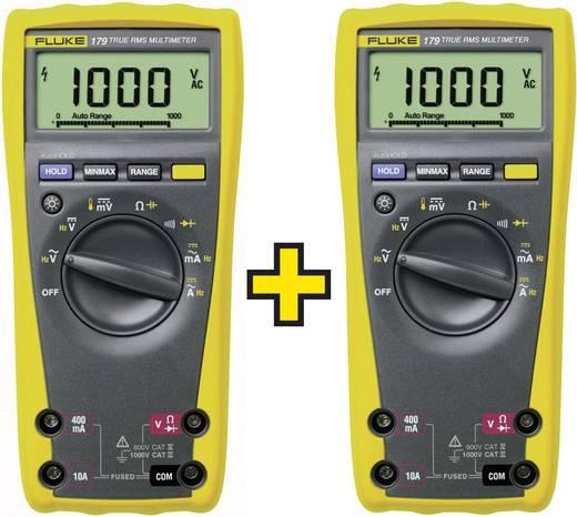 Multimeter Fluke 2 x FLUKE-179 EGFID/TWIN CAT III 1000 V, CAT IV 600 V Fabrieksstandaard (zonder certificaat)