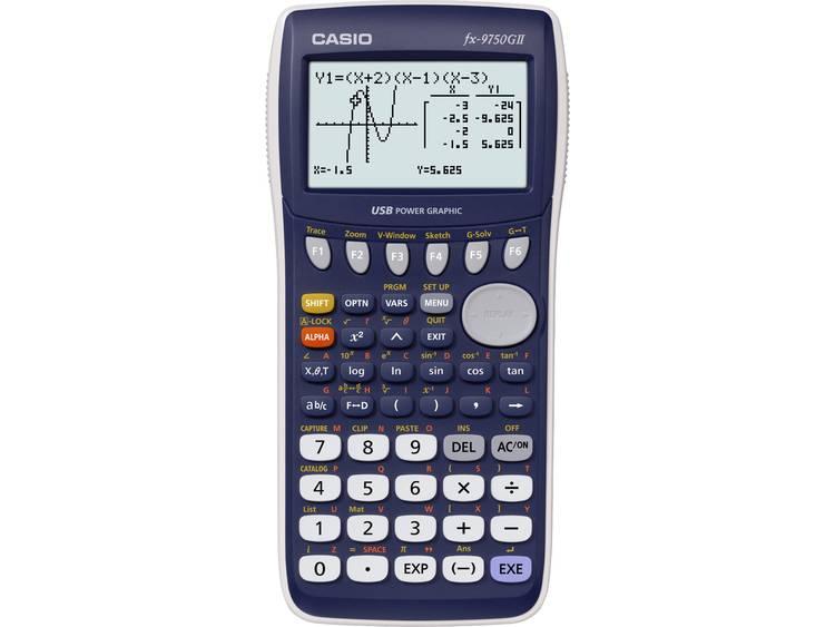 Grafische rekenmachine Casio fx 9750GII Donkerblauw Aantal displayposities 21 w