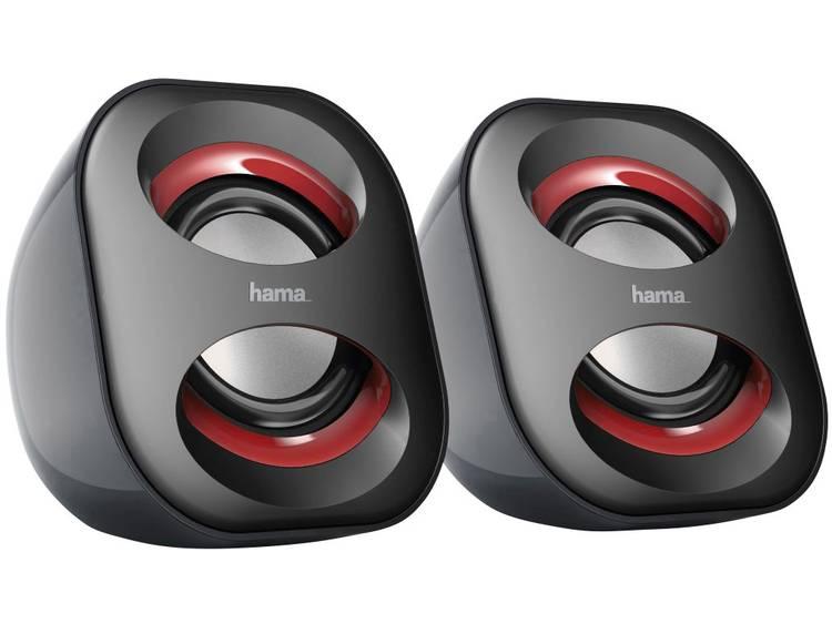 Hama Notebook-luidspreker Sonic Mobil 183 , zwart-rood
