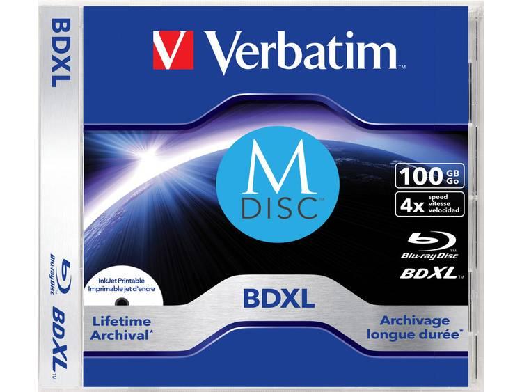 Verbatim 43833 M-Disc Blu-ray 100 GB 1 stuks Slimcase Bedrukbaar