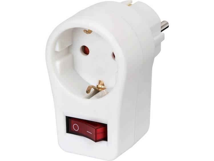 Schakelbare stopcontact adapter 1508070, 1x geaard