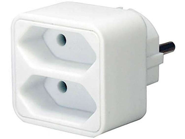 Brennenstuhl 1508030 Adapter kan worden aangesloten Euro 2 Wit