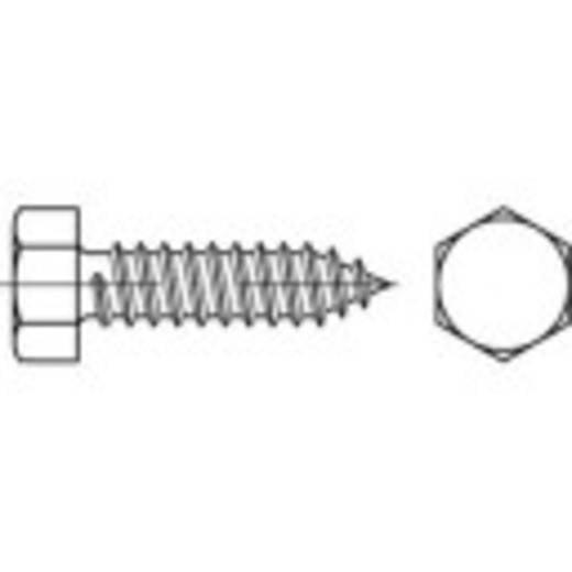 Zeskant plaatschroeven 4.8 mm 45 mm Buitenzeskant (inbus) DIN 7976 Staal galvanisch verzinkt 250 stuks TOOLCRAFT 144565
