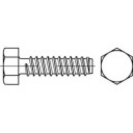 Zeskant plaatschroeven 4.8 mm 9 mm Buitenzeskant (inbus) DIN 7976 Staal galvanisch verzinkt 500 stuks TOOLCRAFT 144617