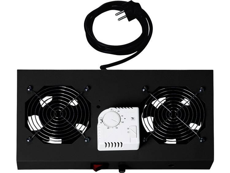 Digitus DN-19 FAN-2-WM-T-SW 19 inch 2 x Patchkast-ventilator Zwart