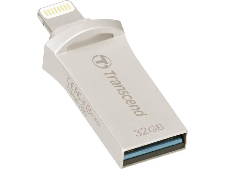 Transcend JetDrive Go 500 Silver 32GB USB 3.1 stick voor iPhone