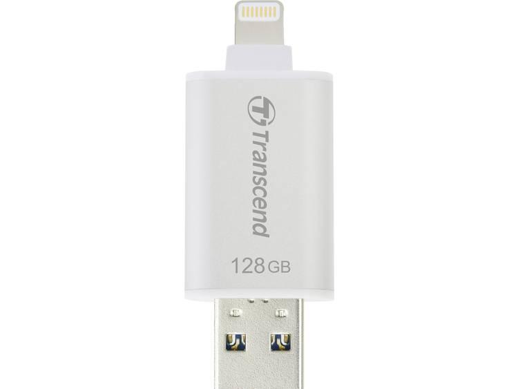 Transcend Transcend JetDrive Go 300 128GB Lightning + USB 3.1 Gen1 zilver (TS128GJDG300S)