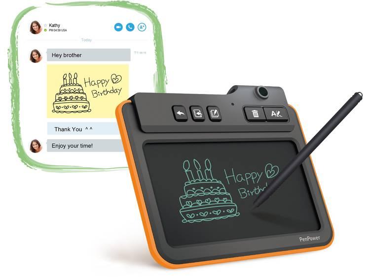PenPower Write2Go Digitaal notitieblok USB Geïntegreerd display, Digitaliseren zonder PC