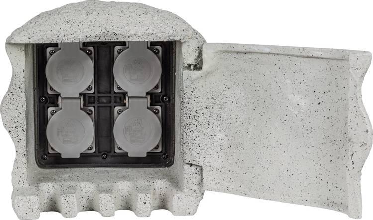 Heitronic 37505 Tuinstekkerdoos 4-voudig Grijs
