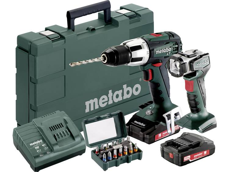 Accuklopboor/schroefmachine Metabo SB 18 LT Incl. 2 accus, Incl. koffer, Incl. acculamp, Incl. accessoires 18 V 2 Ah Li-ion