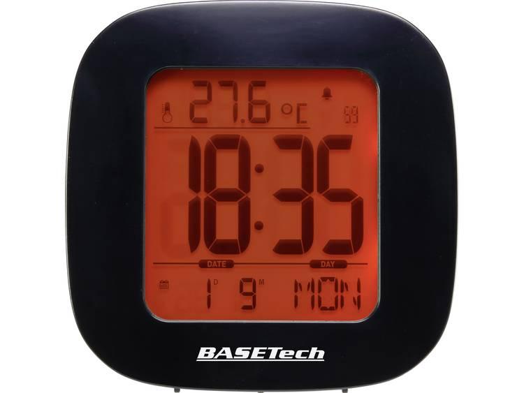 Basetech E0126R Wekker Zendergestuurd Zwart Alarmtijden 1