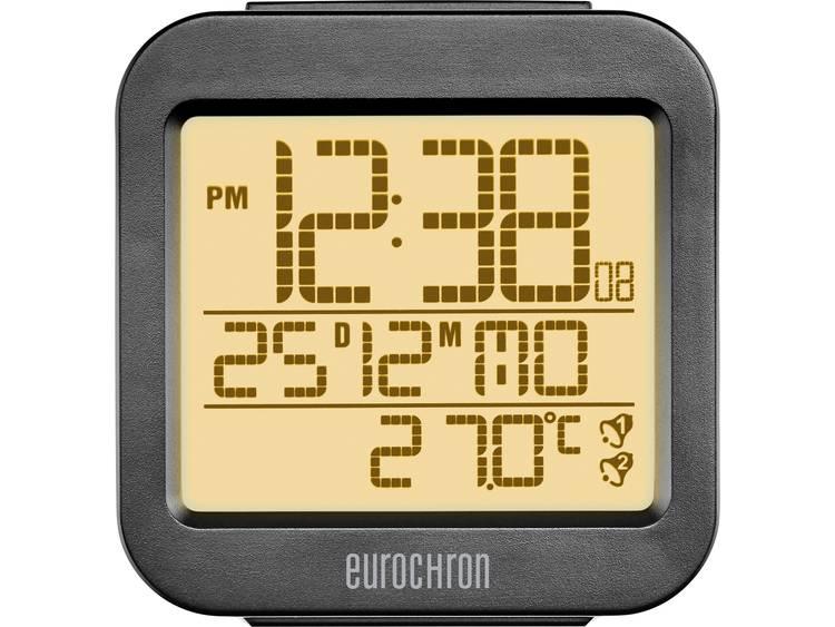 Wekker Zendergestuurd Antraciet Alarmtijden: 2 Eurochron RC130