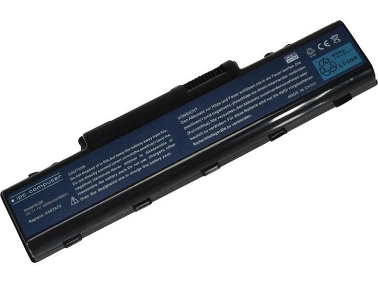 Laptopaccu ipc-computer Vervangt originele accu AS07A71, BT.00603.036, BT.00604.022, BT.00605.018, B