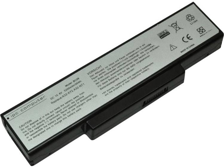 Laptopaccu ipc-computer Vervangt originele accu 07G016CQ1875M, 70-NX01B1000Z, 70-NXH1B1000Z, 70-NZY1B1000Z, 90-NXH1B1000Y, A32-K72, A32-N71, K72L623,