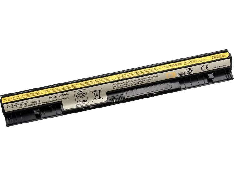 Laptopaccu ipc-computer Vervangt originele accu L12M4A02, 121500175, L12L4A02, 121500176, L12L4E01,