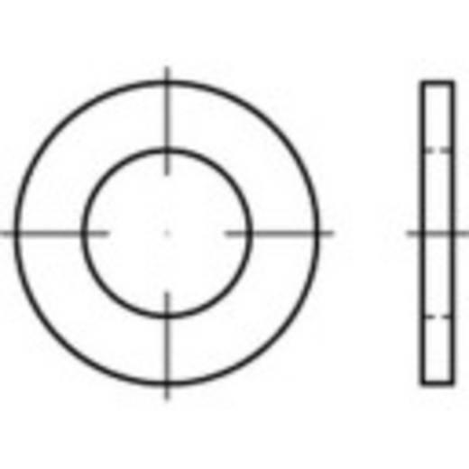 TOOLCRAFT 146148 Onderlegringen Binnendiameter: 17.5 mm DIN 7989 Staal 100 stuks