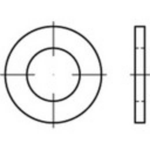 TOOLCRAFT 146159 Onderlegringen Binnendiameter: 13.5 mm DIN 7989 Staal 100 stuks