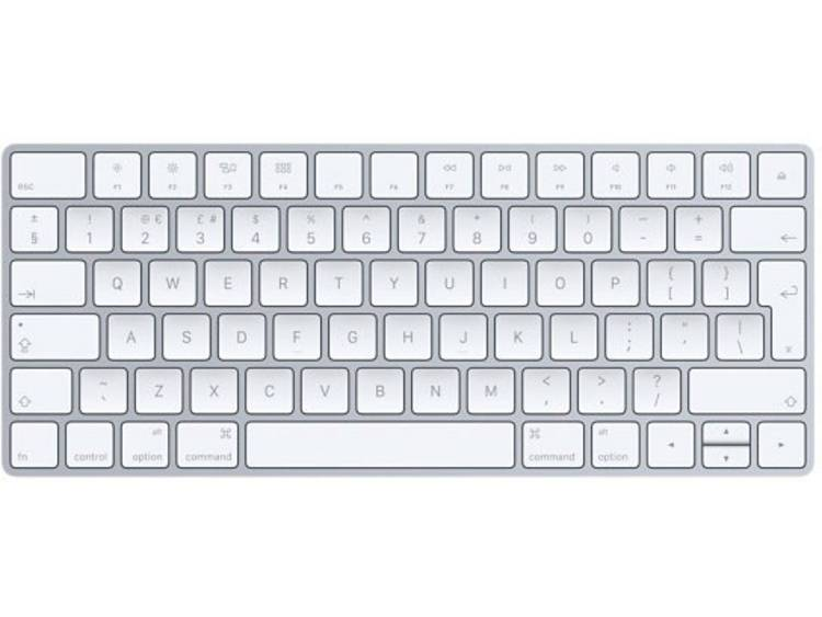 Apple Magic Keyboard (anglais) Bluetooth toetsenbord Zilver, Wit Oplaadbaar