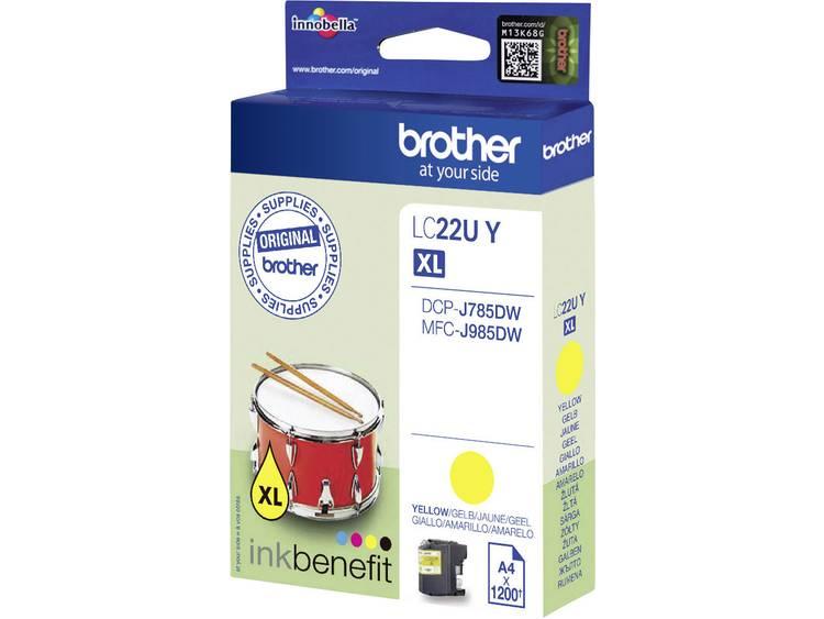 Brother Inkt LC 22U Y Origineel Geel LC22UY