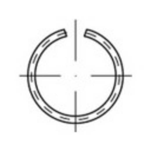 TOOLCRAFT 146394 Veerring Binnendiameter: 23.7 mm Verenstaal 100 stuks
