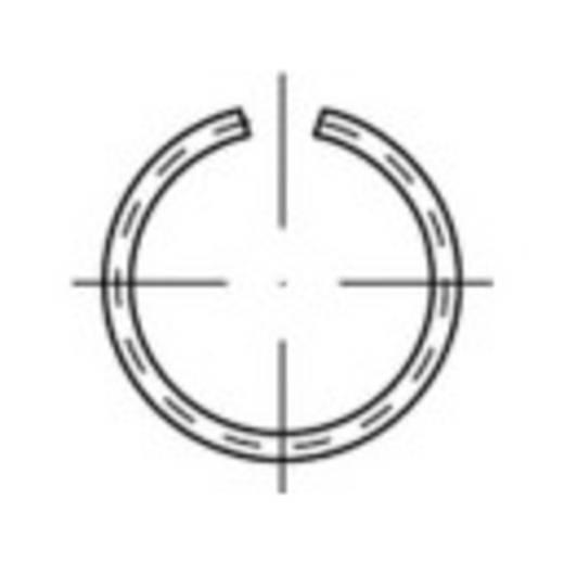 TOOLCRAFT 146409 Veerring Binnendiameter: 10 mm Verenstaal 500 stuks