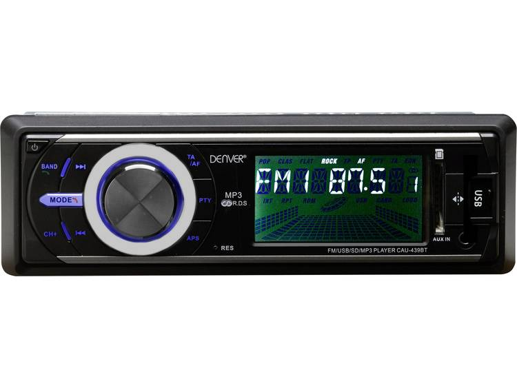 Denver CAU-439BT Enkel Din autoradio 4 x 25 W USB, SD, Jackplug, Bluetooth
