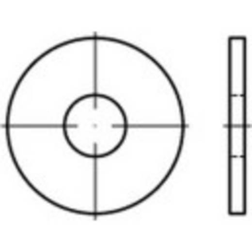 TOOLCRAFT 146442 Onderlegringen Binnendiameter: 22 mm DIN 9021 Staal 100 stuks